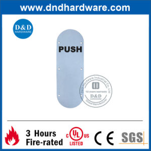Oval Type Push Indication Sign Plate pictures & photos