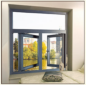 Guangdong G&C Fuson Grey Color Aluminium Casement Window pictures & photos