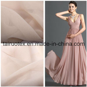 100% Poly Crepe Chiffon for Wedding Dress Fabric pictures & photos
