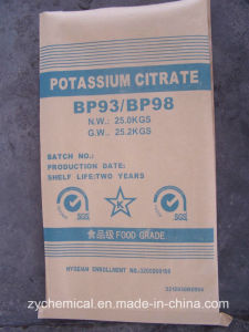 Potassium Citrate, Food Additive, in Food Processing Industry, as Buffer, Chelate Agent, Stabilizer, Antioxidant, Emulsifier and Flavorin pictures & photos