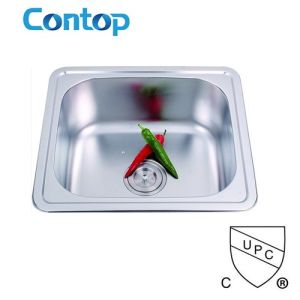 Single Bowl Stainless Steel Kitchen Sink with Cupc Approval pictures & photos