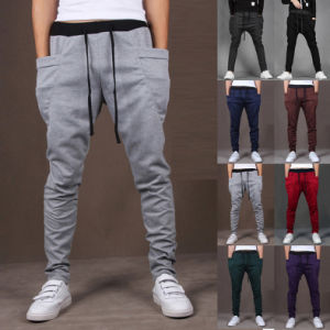 Mens Casual Jogger Sportwear Slacks Trousers Leisure Sweatpants