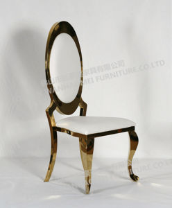 Elegance Gold Stainless Steel Stackable Dining Room Chair