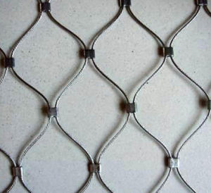 Stainless Steel Rope Cable Woven Mesh Animal Zoo Fencing Wire Mesh pictures & photos
