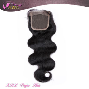 Free Part Body Wave 4 by 4 Virgin Brazilian Hair Lace Closure pictures & photos