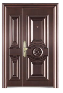 Steel Door Security Bedroom Door Copper Color Nigeria & Egypt (FD-007M) pictures & photos