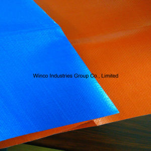 Salable Waterproof PE Laminated 190GSM Blue/White PE Canvas Tarpaulin, Truck Cover PE Tarpaulin pictures & photos