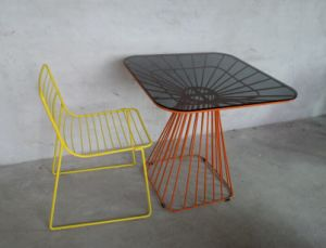 Metal Wire Chair and Table pictures & photos
