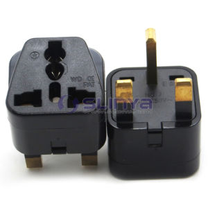 Brass Universal Travel Adapter Au Us EU to UK Adapter Converter 3 Pin AC Power Plug Adapter Connector pictures & photos
