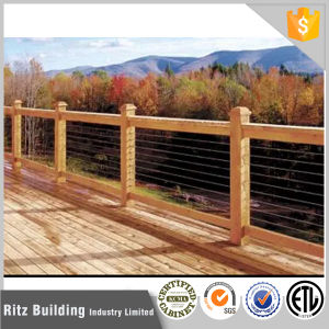 Outdoor Wood Balustrade Stainless Steel Cable Railing pictures & photos