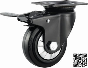 4′′ Elastic Rubber Brake Caster for Hand Trolley pictures & photos