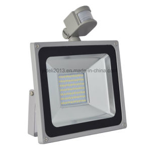Outdoor IP65 Luminaries 100W PIR Motion Sensor SMD LED Floodlight pictures & photos