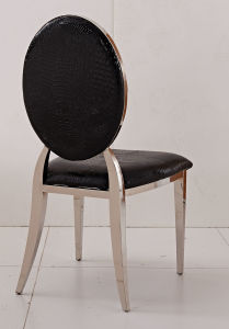 Modern Metal Stainless Steel Wedding Dining Chair Hotel Restaurant Banquet Chair pictures & photos