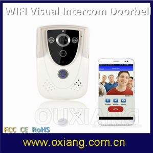 High Quality Mobile Phone Remote Monitoring Intelligent Doorbell 720p WiFi Video Doorbell pictures & photos