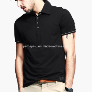 High Quality Pure Color 100% Cotton Men Polo Shirt pictures & photos