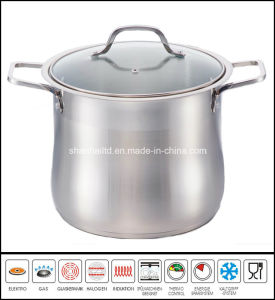 Stainless Steel Big Stockpot Glass Lid pictures & photos