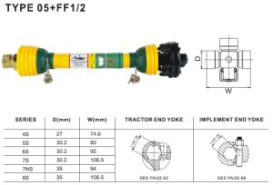 Pto Shaft Push Pin + Friction Torque Limiter for Agricultural Machinery pictures & photos