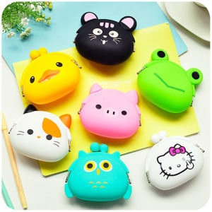 Promotion Gifts Carton Silicone Coin Purse Coin Wallet pictures & photos