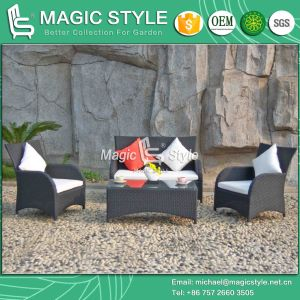 Simple Patio Sofa Set Rattan Outdoor Sofa Set Garden Wicker Sofa Set (Magic Style) pictures & photos
