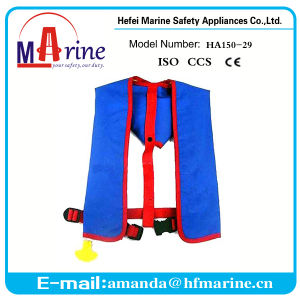 420d Oxford Fabric Inflatable Manual Life Jacket pictures & photos