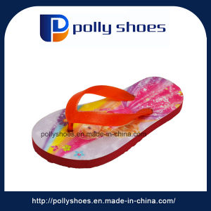 Newest Fancy Design Girls Flat Beach Slippers pictures & photos