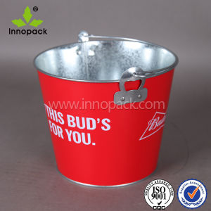 5L/5 Liter/5qt/1.5 Gallon Metal Galvanized Ice Beer Bucket with Custom Printing with Handle pictures & photos