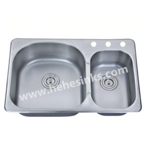 Kitchen Sink with Top Mount Installation and Cupc Certification (8052) pictures & photos