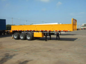 Dropside Truck Semi Trailer for 40ft Container