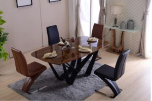 2016 Popular Moder Sytle Dining Chair with Iron Leg (DC020) pictures & photos