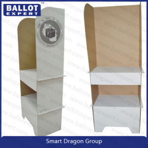 Double-Deck Foldable Cardboard Polling Booth /Ballot Table for Election