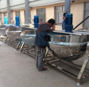Stainless Steel Vertical Electric Jacketed Kettle Food pictures & photos