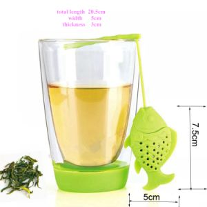 Creative Little Fishing Fish Shape Silicone Tea Infuser pictures & photos