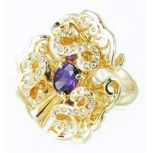 Many Zircon Flowers Fashion Jewellery for Ring (A04485R1S)