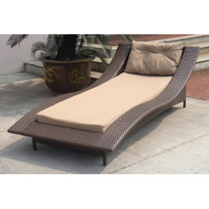 High Quality Hotel, Rattan Sun Bed Beach Chair (CL-1005) pictures & photos