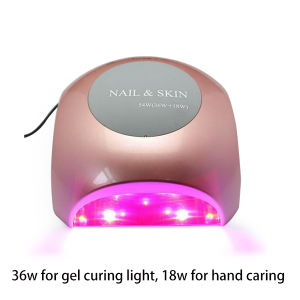 54W Touch Buttom UV LED Nail Lamp for Both Curing Gel and Hand Care pictures & photos