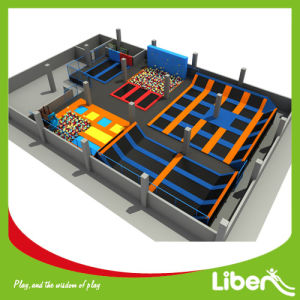 ASTM Standard China Cheap Large Trampoline Park, Professional Trampoline Park with Foam Pit pictures & photos