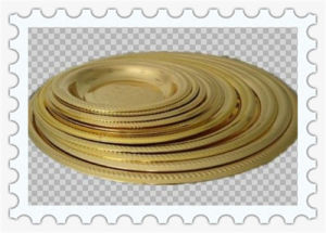 Yellow Gold Plated 30/32/34/36/40//42/44/46/48/52/56/60cm Flower Rim Stainless Steel Round Plate pictures & photos