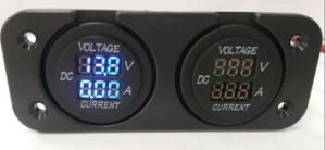 12V-24V New Blue 15A Gauge and Voltmeter for Car and Boats pictures & photos