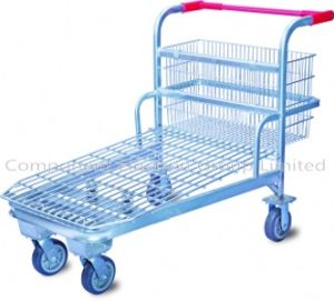 Flatform Trolley Cart, Shopping Storage Trolley, Flat Trolley, Metal Trolley Cart pictures & photos