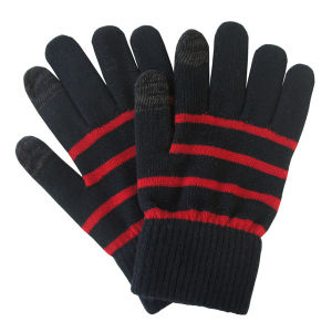 Men′s Fashion Stripe Knitted Winter Warm Touch Screen Gloves (YKY5463) pictures & photos