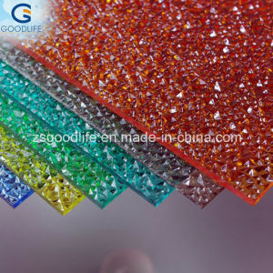 2.3/2.7mm Polycarbonate Sheet Small Embossed Rain Drop and Diamond Sheet pictures & photos