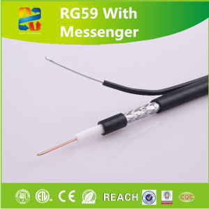 China Hangzhou Rg59 Coaxial Cable Al Braiding CCS Cable pictures & photos