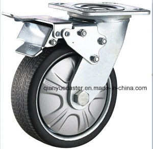 Heavy Duty Gray Polyurethane Flame Swivel Caster Wheel pictures & photos