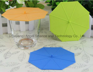 Popular Umbrella Silicone Tea Cup Lid Silicone Cup Cover SL10 pictures & photos