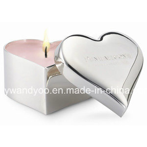 Scented Luxury Heart Shape Tin Candle pictures & photos
