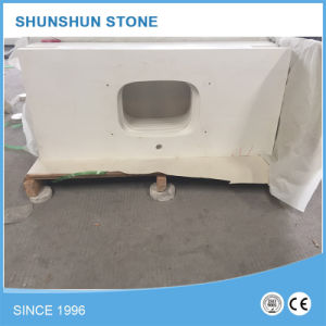 Popular Artificial Stone White Quartz Vanity Top pictures & photos