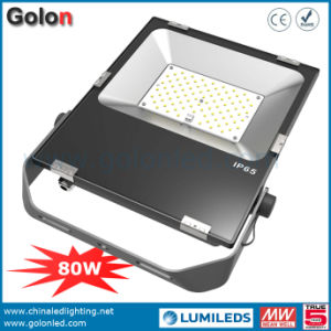 Manufacturer China Outdoor LED Flood Light with Philipssmd Waterproof 80W LED Flood Light Ultra Slim Portable Flood Lights pictures & photos