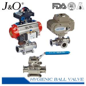Sanitary Pneumatic Cavity Filled Seal Ball Valve with Actuator pictures & photos