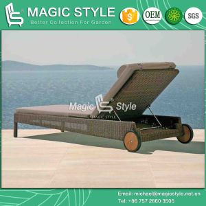 Garden Sun Lounge Rattan Daybed Wicker Sunlounger (Magic Style) pictures & photos