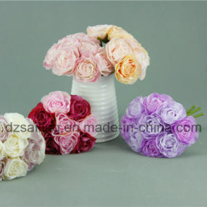 High Quality Decorative Artificial Flower of Camelia Bouquet (SF14654)
